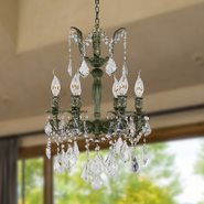W83320B15 Versailles 6 Light Antique Bronze Finish with Clear Crystal Chandelier
