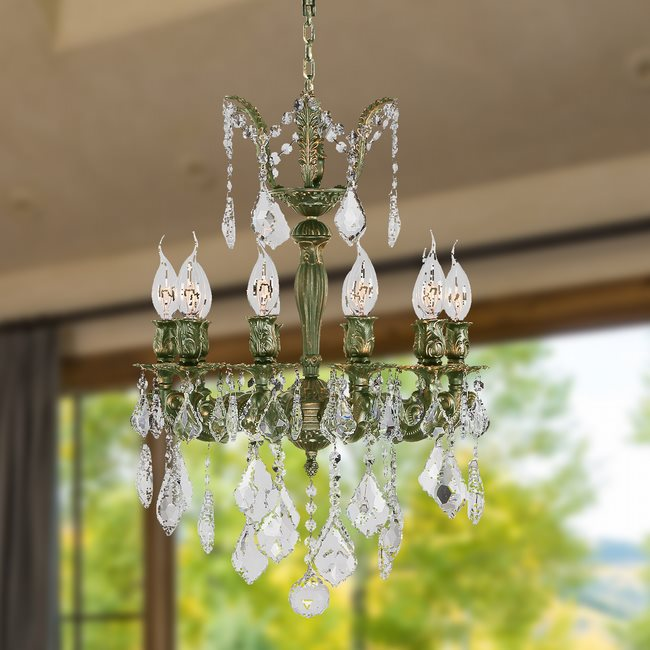 W83322B17 Versailles 10 Light Antique Bronze Finish with Clear Crystal Chandelier