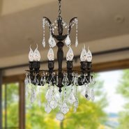 W83322F17 Versailles 10 Light Flemish Brass Finish and Clear Crystal Chandelier