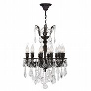 Versailles 12 Light Flemish Brass Finish with Clear Crystal Chandelier