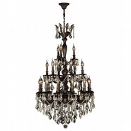 Versailles 21 light Flemish Brass Finish with Golden Teak Crystal Chandelier