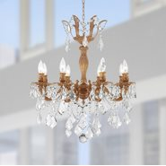 W83329FG23-CL Versailles 8 Light French Gold Finish with Clear Crystal Chandelier