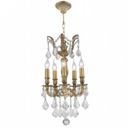 W83330B13 Versailles 5 Light Antique Bronze Finish and Clear Crystal Chandelier