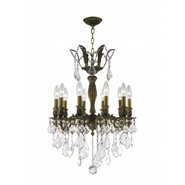 W83335B19 Versailles 10 Light Antique Bronze Finish with Clear Crystal Chandelier
