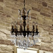 W83336F20 Versailles 12 Light Flemish Brass Finish with Clear Crystal Chandelier