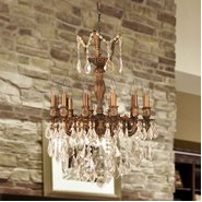 W83336FG20-GT Versailles 12 light French Gold Finish with Clear Crystal Chandelier