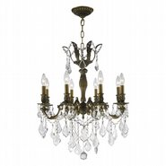 Versailles 8 light Antique Bronze Finish with Clear Crystal Chandelier