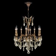 Versailles 8 light Antique Bronze Finish and Golden Teak Crystal Chandelier