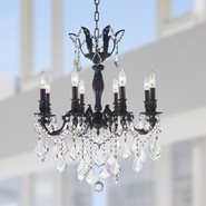 W83337F22 Versailles 8 Light Flemish Brass Finish with Clear Crystal Chandelier