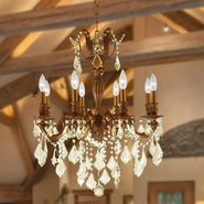 W83337FG22-GT Versailles 8 light French Gold Finish with Clear Crystal Chandelier