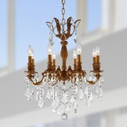 W83337FG22 Versailles 8 light French Gold Finish with Clear Crystal Chandelier