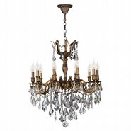 W83340B26 Versailles 10 Light Antique Bronze Finish and Clear Crystal Chandelier