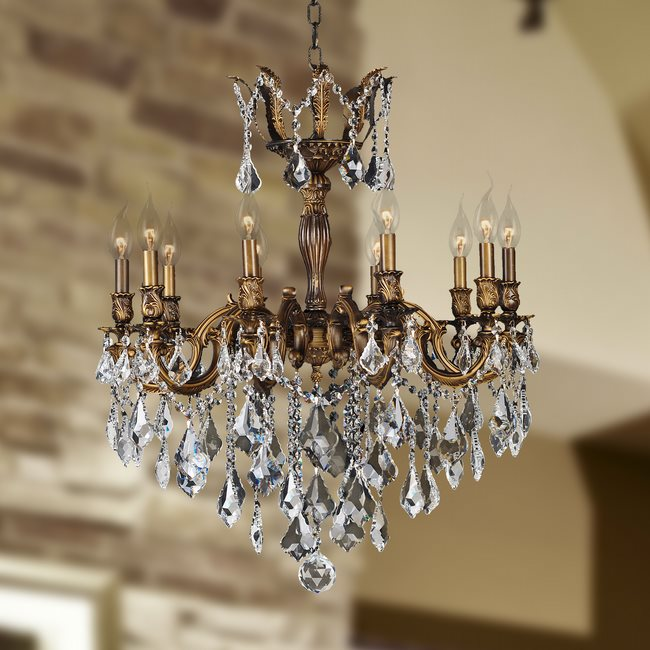 bronze finish and clear crystal chandelier previous next