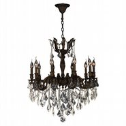 W83340F26-GT Versailles 10 light Flemish Brass Finish with Golden Teak Crystal Chandelier