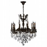 Versailles 10 Light Flemish Brass Finish and Clear Crystal Chandelier