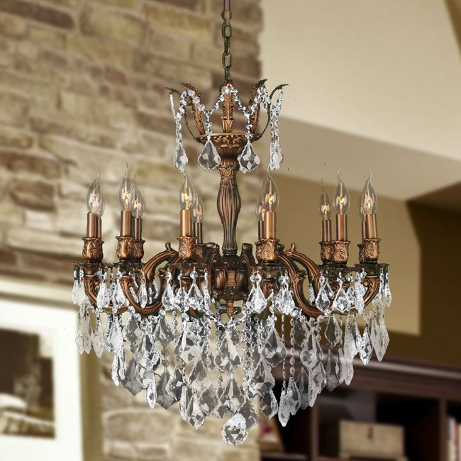 W83341fg27 versailles 12 light french gold finish and clear crystal w83341fg27 versailles 12 light french gold finish and clear crystal chandelier aloadofball Image collections
