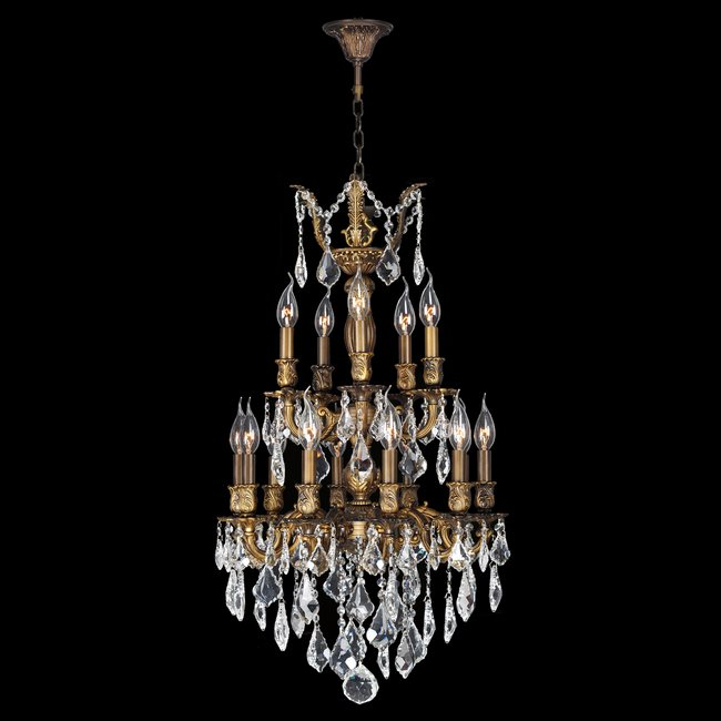 W83344b19 versailles 15 light antique bronze finish and clear w83344b19 versailles 15 light antique bronze finish and clear crystal chandelier two 2 tier aloadofball Images