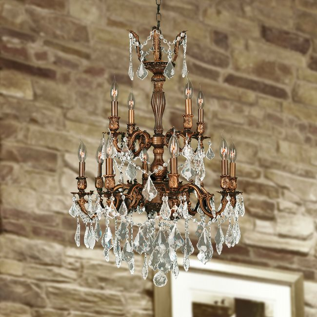 W83346fg24 versailles 12 light french gold finish and clear crystal w83346fg24 versailles 12 light french gold finish and clear crystal chandelier two 2 tier aloadofball Image collections