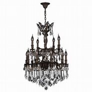 Versailles Collection 15 Light Flemish Bronze Finish with Clear Crystal Chandelier