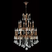 Versailles 18 light French Gold Finish and Clear Crystal Chandelier Two 2 Tier