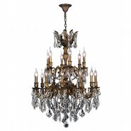 W83350B27 Versailles 18 light Antique Bronze Finish with Clear Crystal Chandelier
