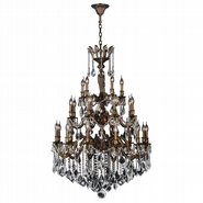 W83352B36 Versailles 25 light Antique Bronze Finish with Clear Crystal Chandelier