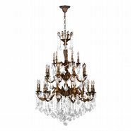 Versailles 25 light French Gold Finish and Clear Crystal Chandelier Three 3 Tier