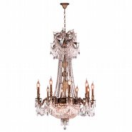 W83356B30-CL Winchester 15 Light Antique Bronze Finish and Clear Crystal Chandelier
