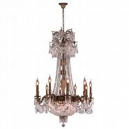 W83356B36-CL Winchester 18 Light Antique Bronze Finish and Clear Crystal Chandelier