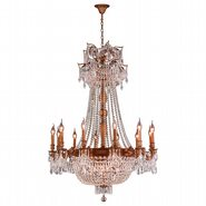 W83356FG36-CL Winchester 18 Light French Gold Finish and Clear Crystal Chandelier