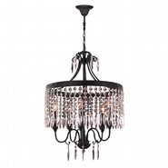 Enfield 5 Light Flemish Brass Finish Clear Crystal Chandelier