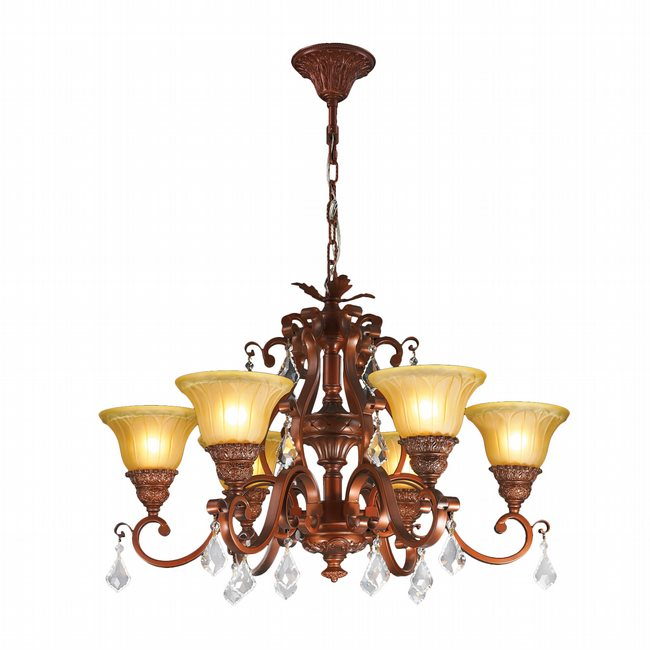w83368b30 florence 6 light antique bronze finish clear