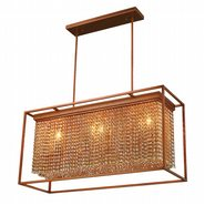W83383FG36-AM Franklin 3 Light French Gold Finish and Amber Crystal Chandelier (Discontinued)