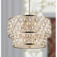 Paris 9 Light Champagne Finish Pendant