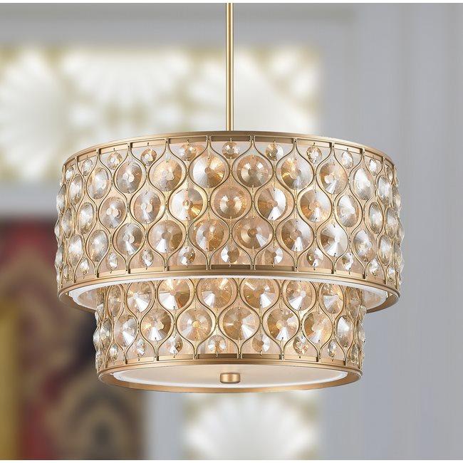 w83410mg20 Paris 9 Light Matte Gold Finish Pendant