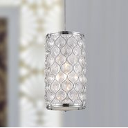 Paris 1 Light Chrome Finish Pendant