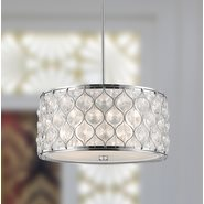 w83413c16 Paris 4 Light Chrome Finish Pendant