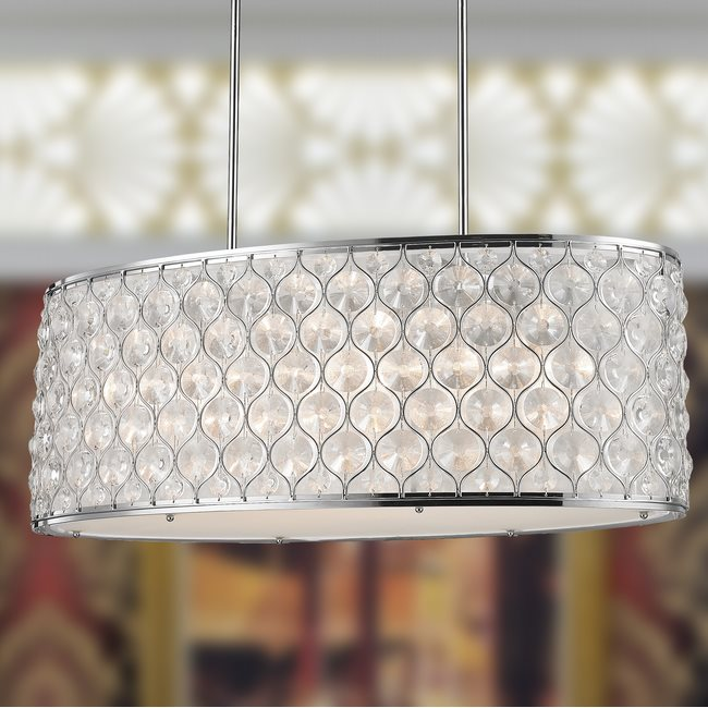 w83415c32 Paris 12 Light Chrome Finish Pendant