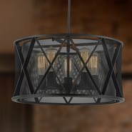 w83420mb20 Nautilus 5 Light Matte Black Finish Pendant