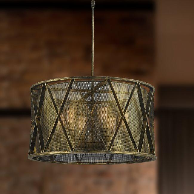 w83421ab24 Nautilus 6 Light Antique Bronze Pendant