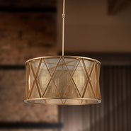 Nautilus 6 Light Matte Gold Finish Pendant