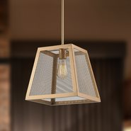 Nautilus 1 Light Matte Gold Finish Pendant