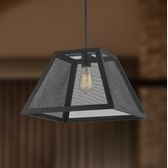 w83424mb16 Nautilus 1 Light Matte Black Finish Pendant