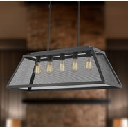 Nautilus 5 Light Matte Black Finish Pendant