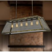 Nautilus 6 Light Antique Bronze Pendant
