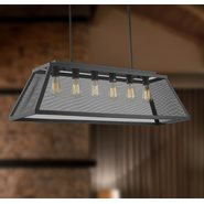 Nautilus 6 Light Matte Black Finish Pendant