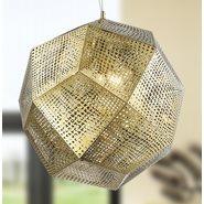 Geometrics 5 Light Champagne Pendant