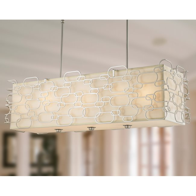 W83442MN42 Montauk 12 Light Matte Nickel Finish Pendant