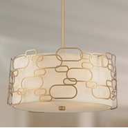 Montauk 5 Light Matte Gold Finish Pendant