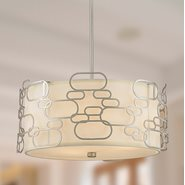 Montauk 5 Light Matte Nickel Finish Pendant